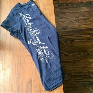 Navy Blue Lucky Brand V-neck Tee